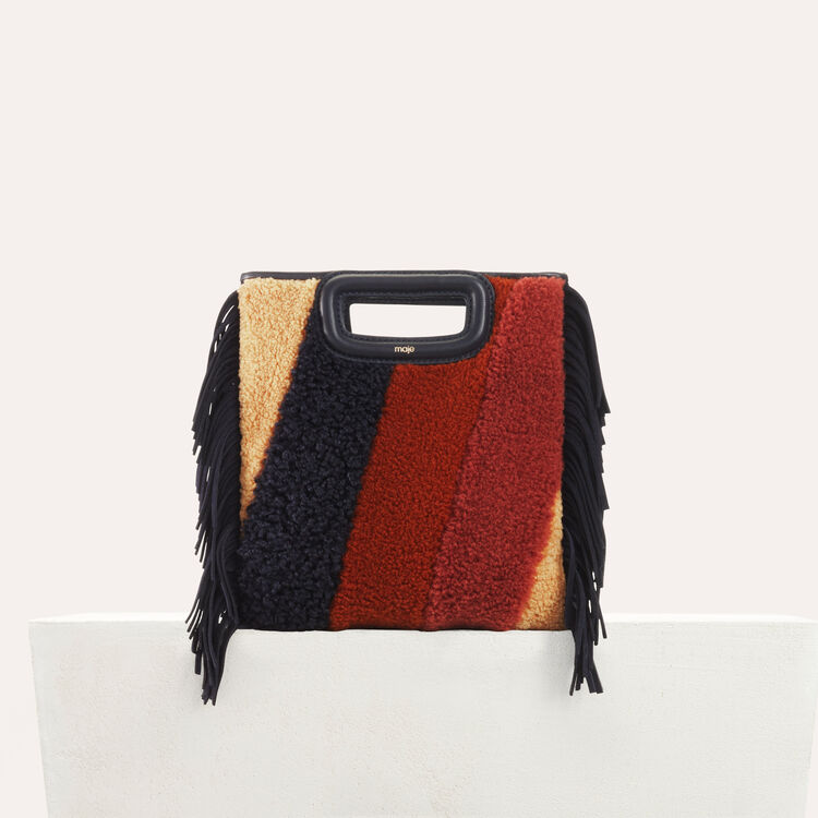 M bag in shearling and leather : M bag color Multico