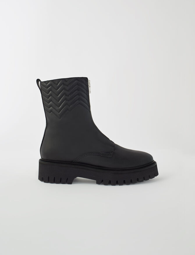 Quilted boots with zip -  - MAJE