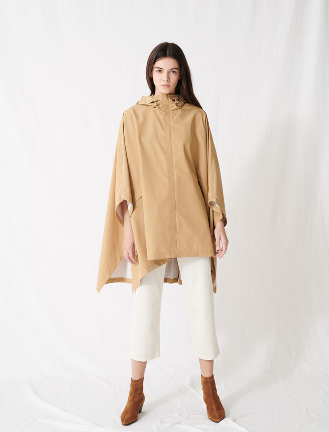 Oversized windbreaker pleated at back -  - MAJE