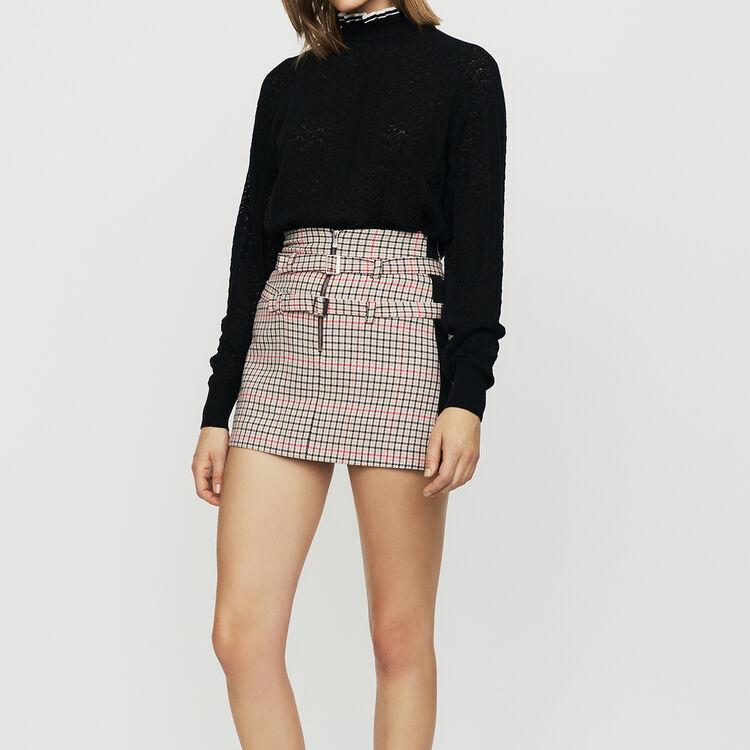Sweater in chevron knit : Knitwear color Black 210