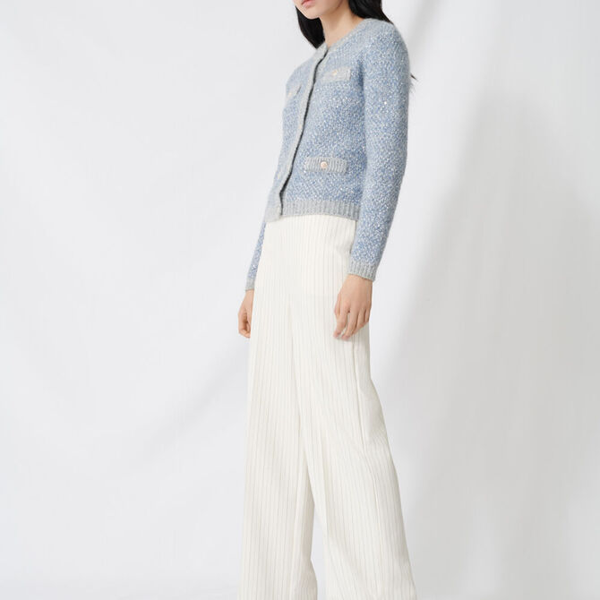 Palazzo trousers, contrasting waistband - staff private sale 1220 - MAJE