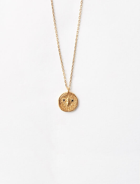 Ma puce gold-plated necklace : Jewelry color Gold