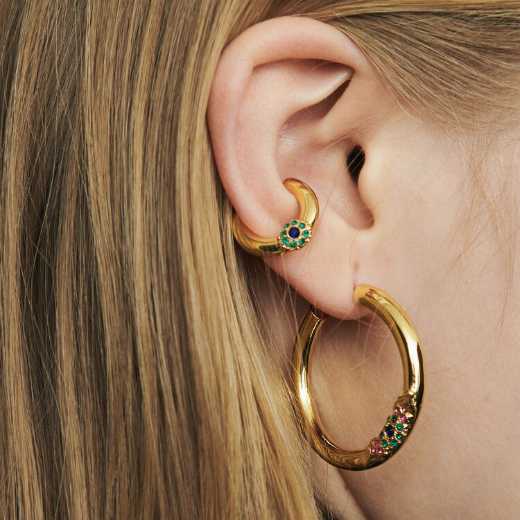 "Earcuff ""Eye"" : Jewelry color GOLD"