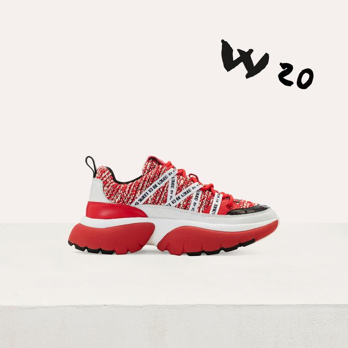 W20 Urban tweeded sneakers : Sneakers color Red