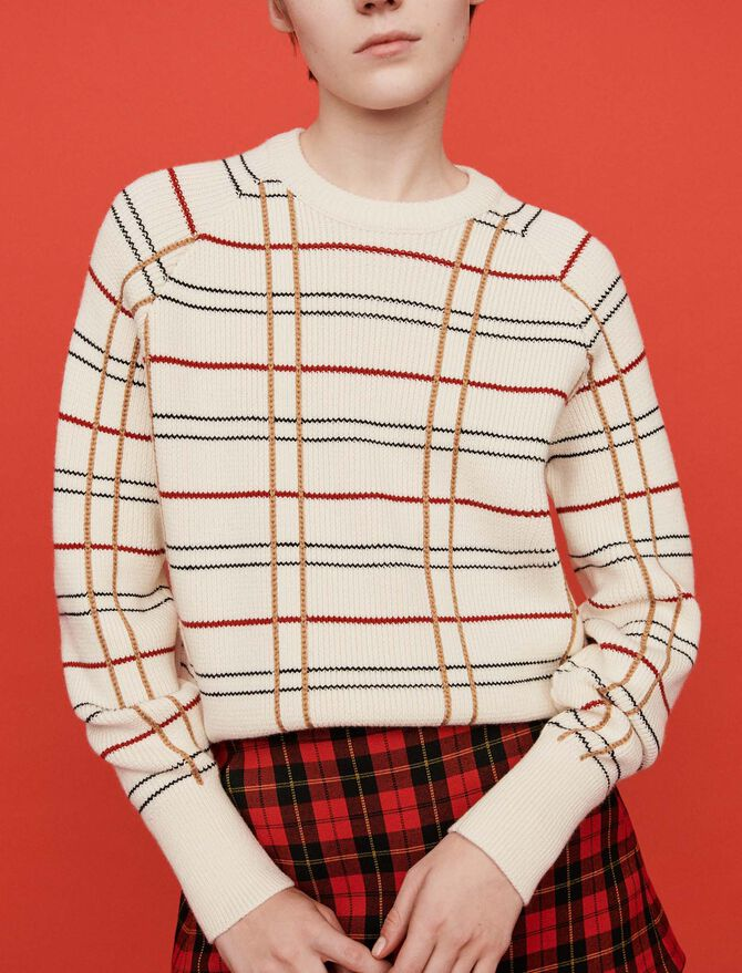 Plaid jacquard sweater - Pullovers & Cardigans - MAJE
