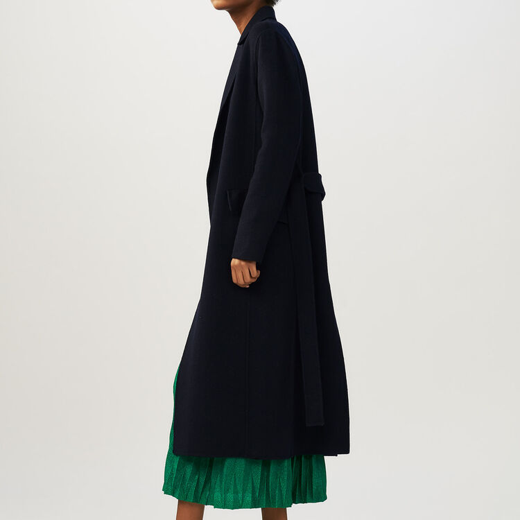 Long double-faced coat : staff private sale color Navy