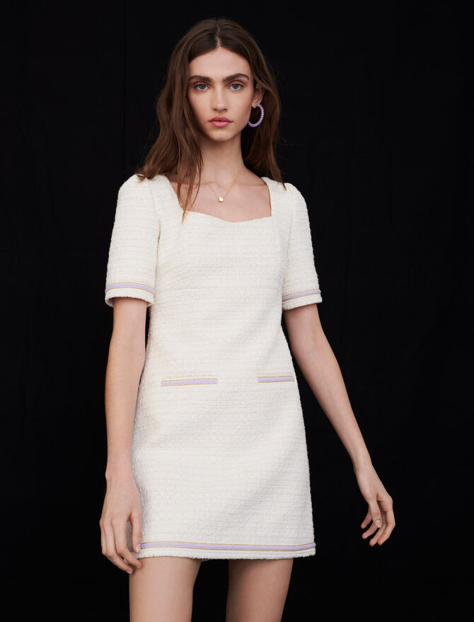 Contrast tweed dress - Dresses - MAJE