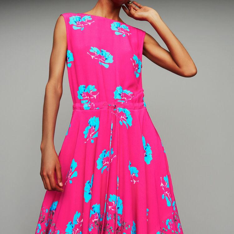 Sleeveless printed long dress : Dresses color PRINTED