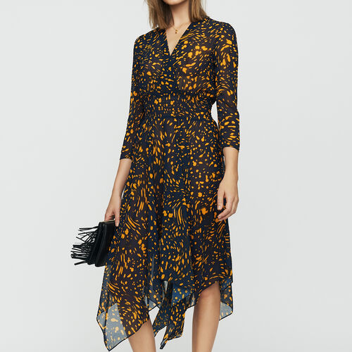 Printed asymmetric dress : Dresses color PRINTED