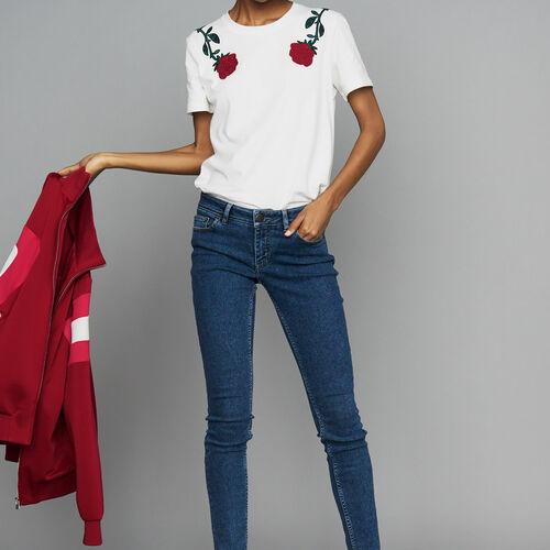 Skinny jeans in denim : Jeans color Denim