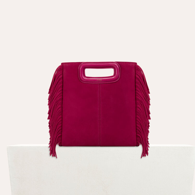 Suede M bag : staff private sale color Raspberry