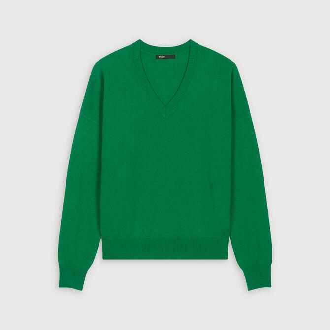 Cashmere V-neck sweater - staff private sale 1220 - MAJE