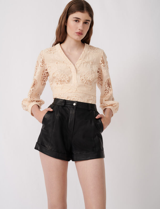 Cuffed shorts with topstitching - See all - MAJE