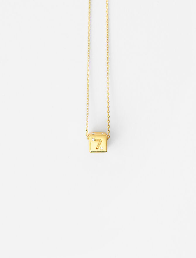 Number 7 dice necklace -  - MAJE