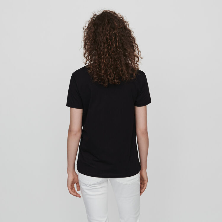 Embroidered tee shirt : T-Shirts color Black