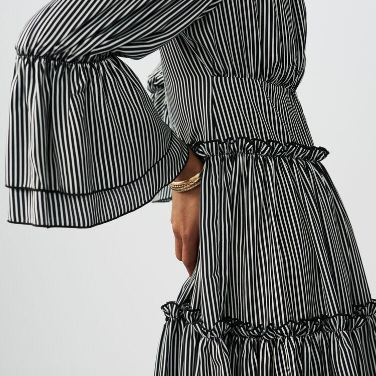 Striped cold-shoulder dress : staff private sale color Stripe