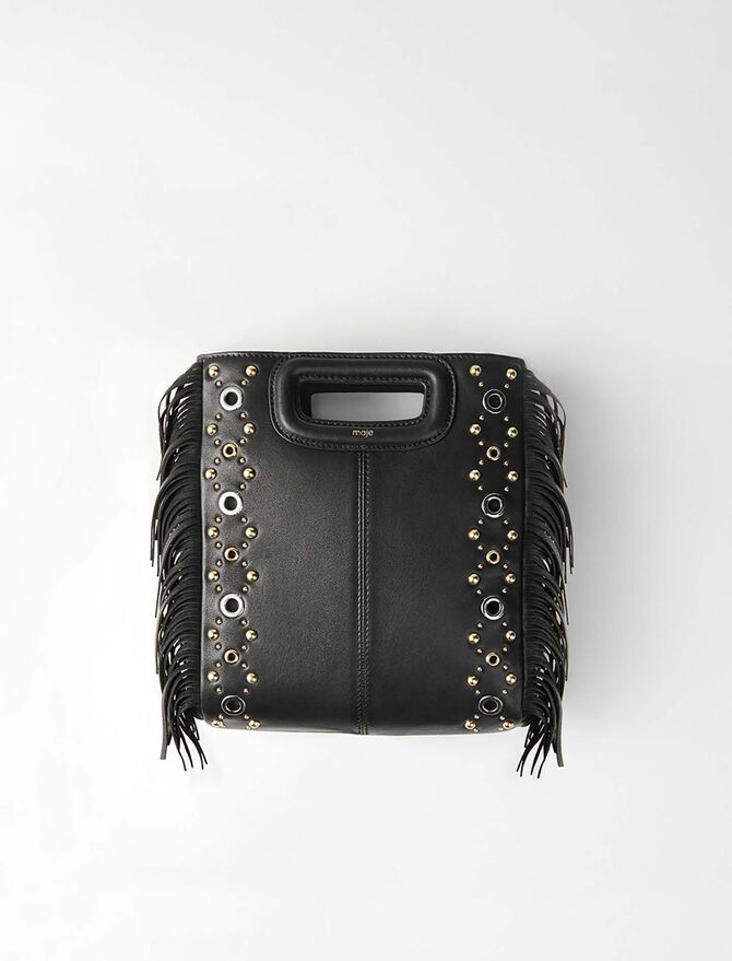Leather M bag with eyelets - Evening Capsule : Astro Club - MAJE