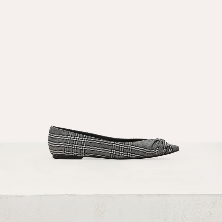 Flat pumps in Prince of Wales plaid : Flat shoes color CARREAUX