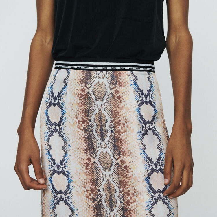 Long skirt with python print  : Skirts & Shorts color Printed