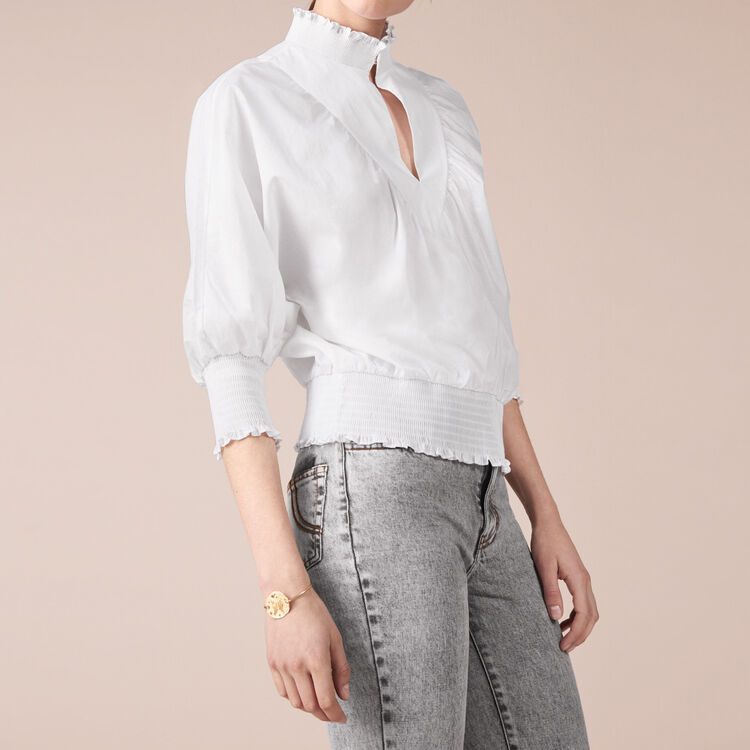 Cotton poplin blouse : staff private sale color Ecru