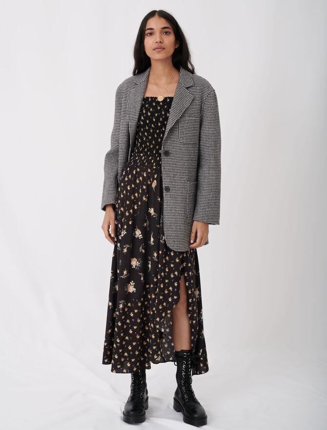 Blazer-style checked coat - Coats & Jackets - MAJE