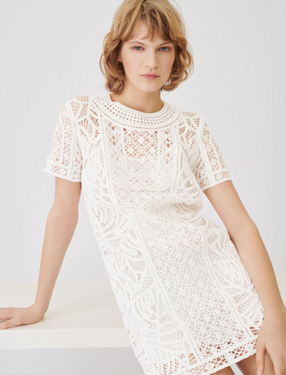 Macramé-style straight-cut dress - Dresses - MAJE