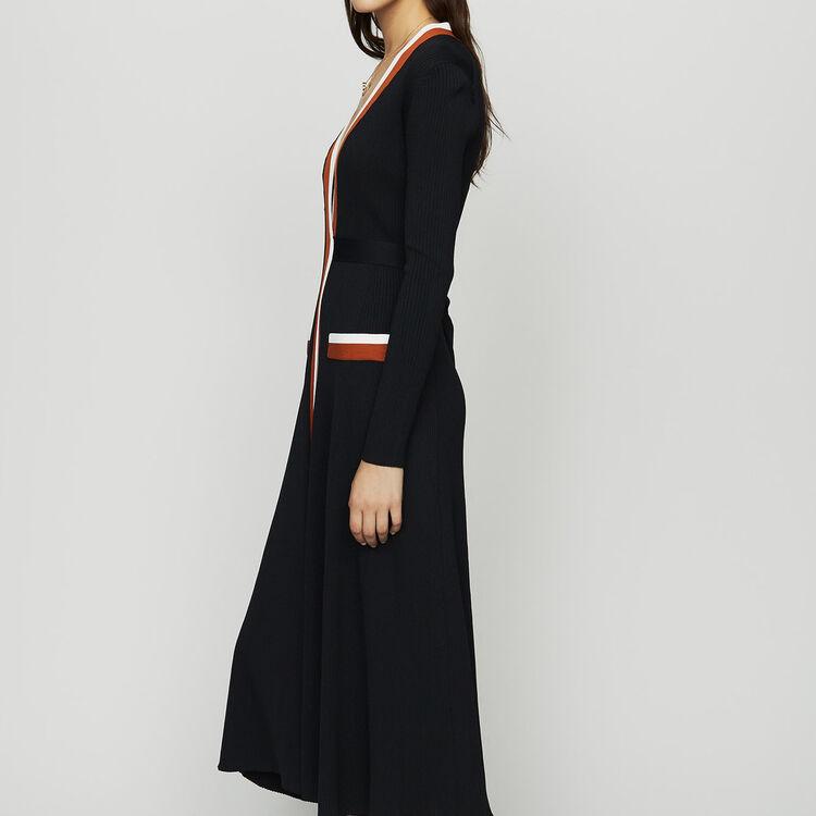 Wrap knit dress : Dresses color Black 210