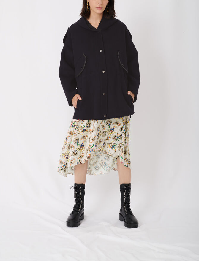 Double face coat with hood - New collection - MAJE