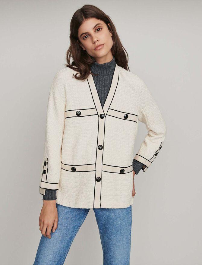Tweed-style contrast jacket - -30% - MAJE