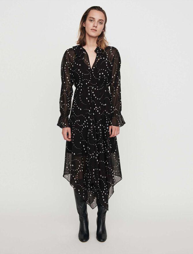 Printed-muslin scarf dress - -30% - MAJE