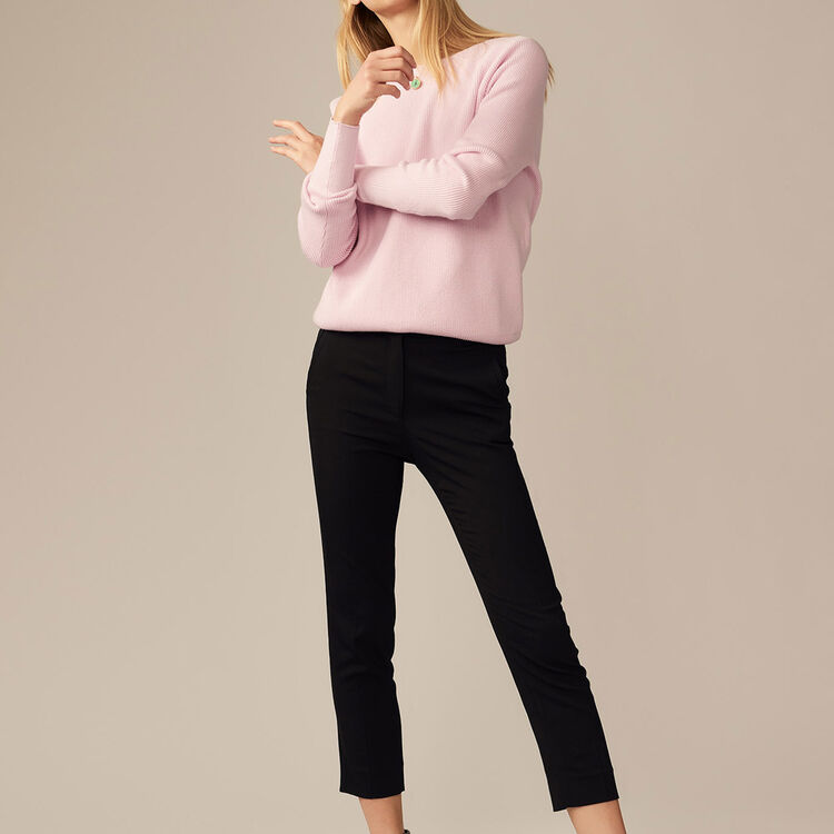 Straight pants in viscose : staff private sale color Black 210
