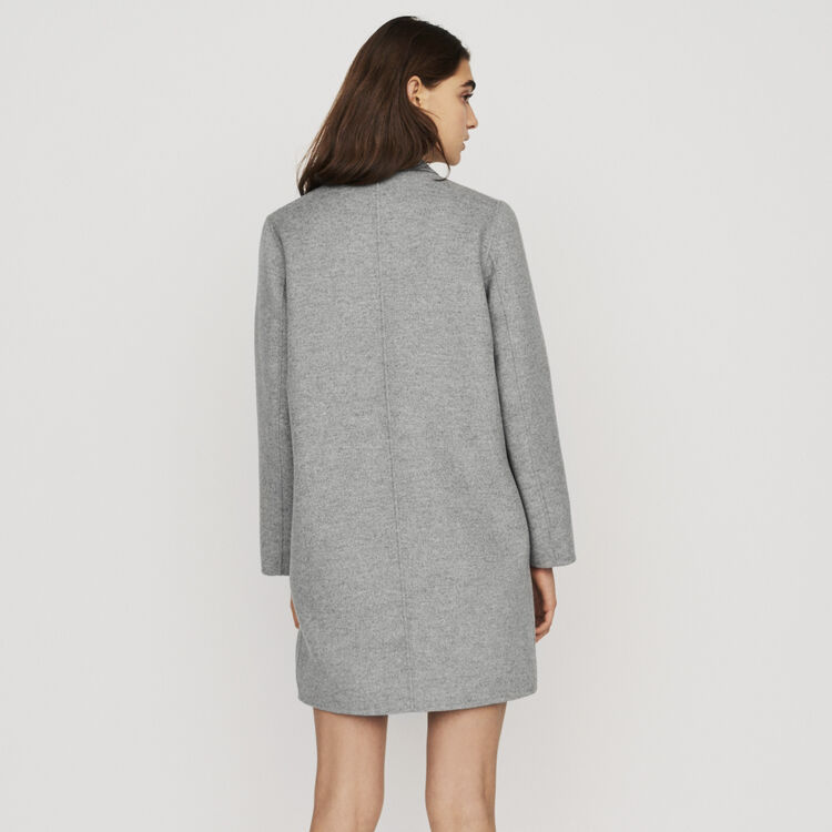 Mid-length double-faced coat : Coats & Jackets color Grey