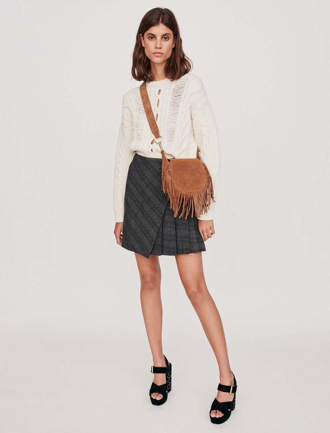 Pleated short skirt with checks - -30% - MAJE
