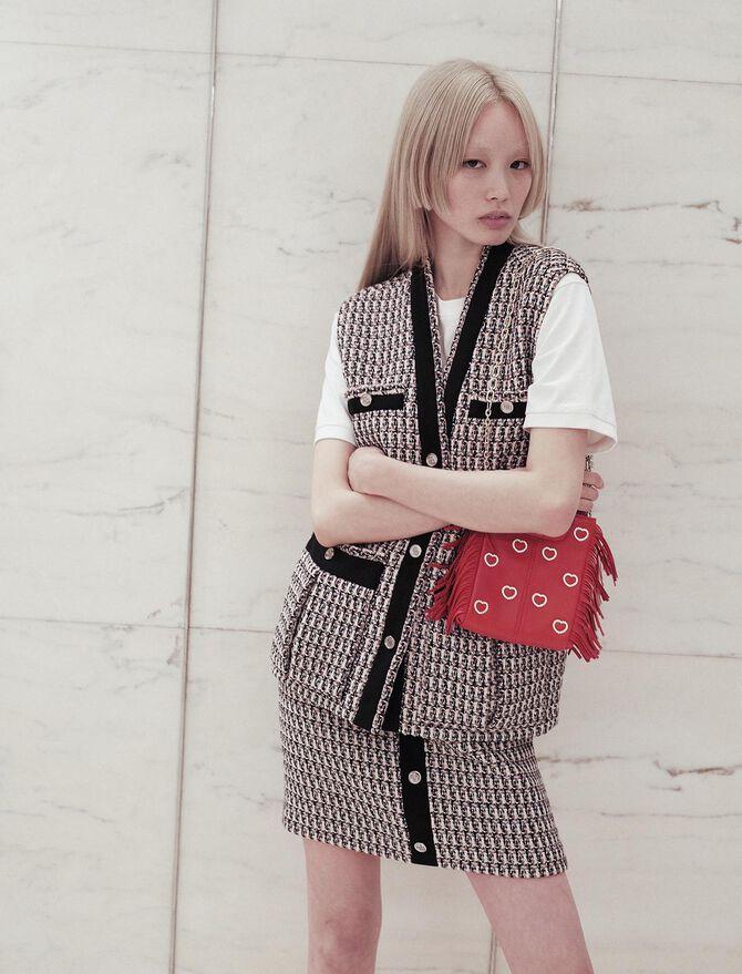 Sleeveless lurex tweed-style jacket - Blazers - MAJE