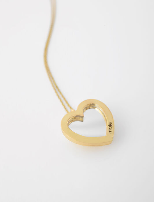 Gold-tone heart photo locket necklace : Jewelry color Gold