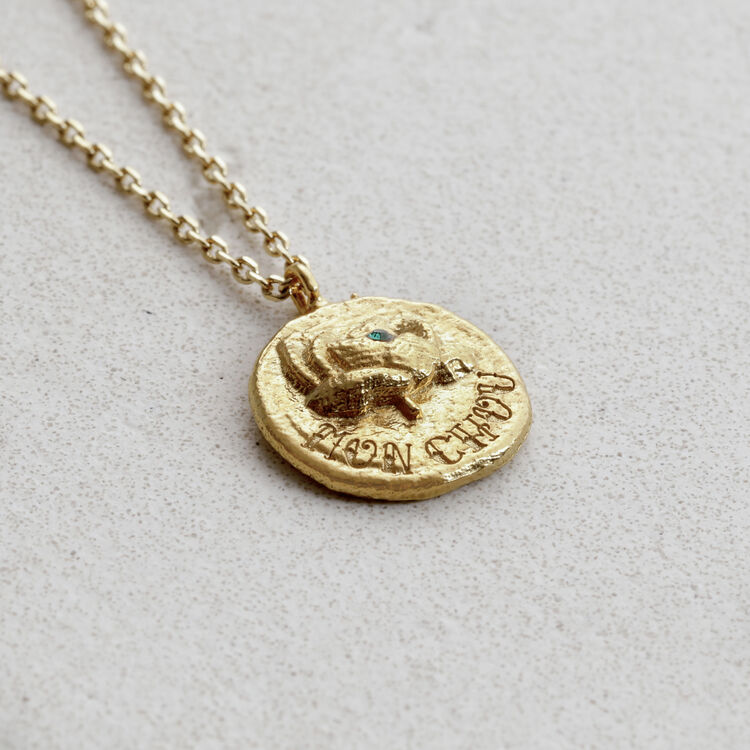 """Necklace """"Mon chou"""" in gold plated : Jewelry color GOLD"""