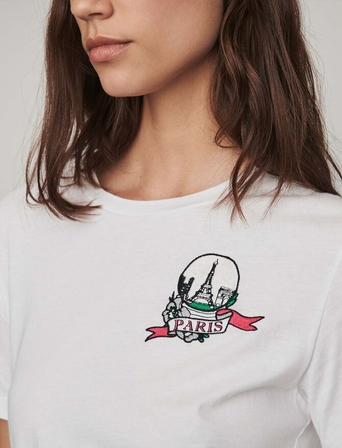 Embroidered t-shirt - Presoldes-50_BE - MAJE