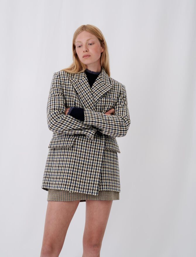 Checked blazer-style coat - New collection - MAJE