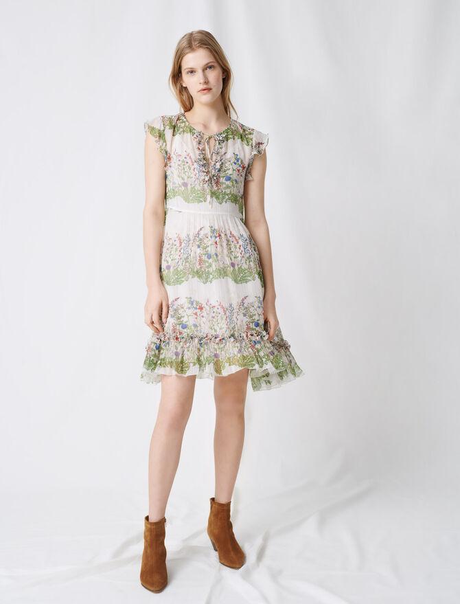 Printed silk dress - Dresses - MAJE