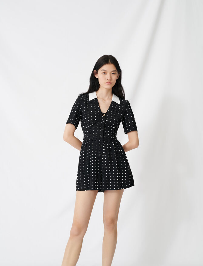 Floaty playsuit with retro polka dots -  - MAJE