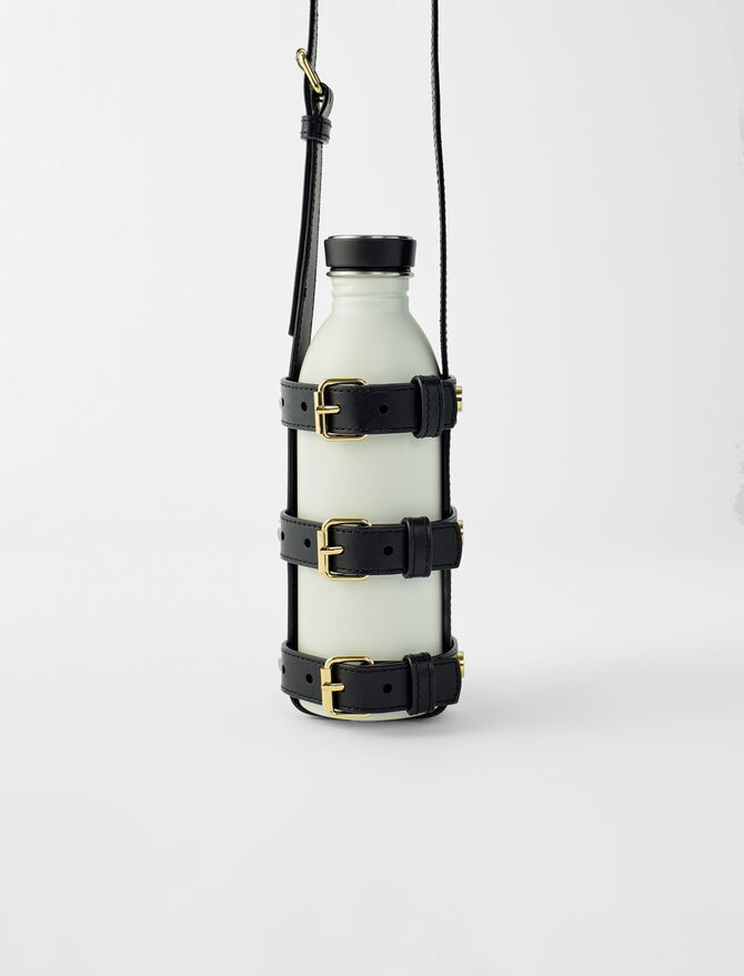 Leather bottle holder with straps - Ready to wear - MAJE