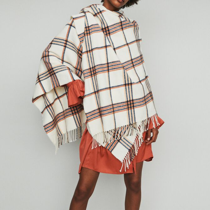 Poncho in stripes - See all - MAJE