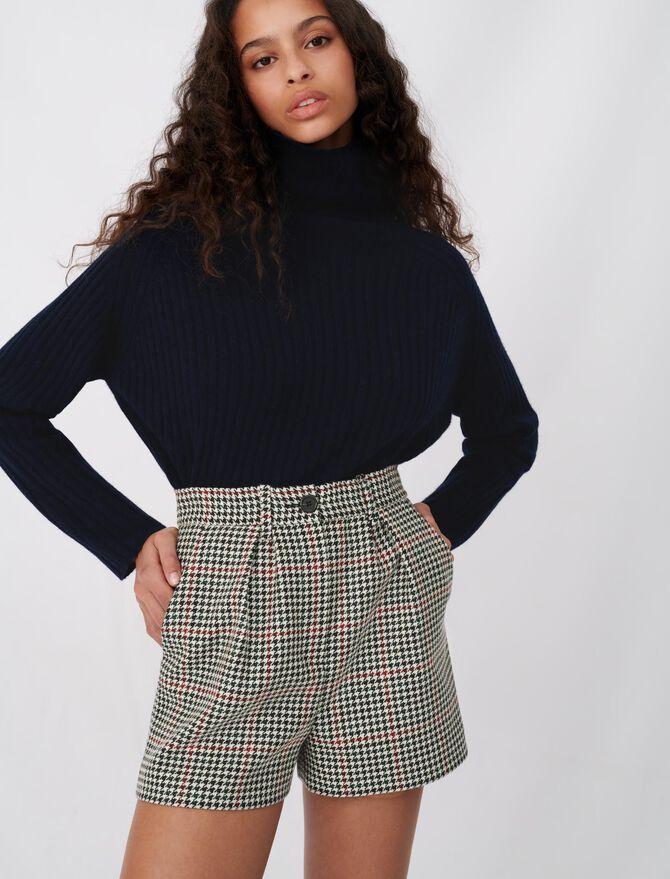 Wide checked shorts - Skirts & Shorts - MAJE