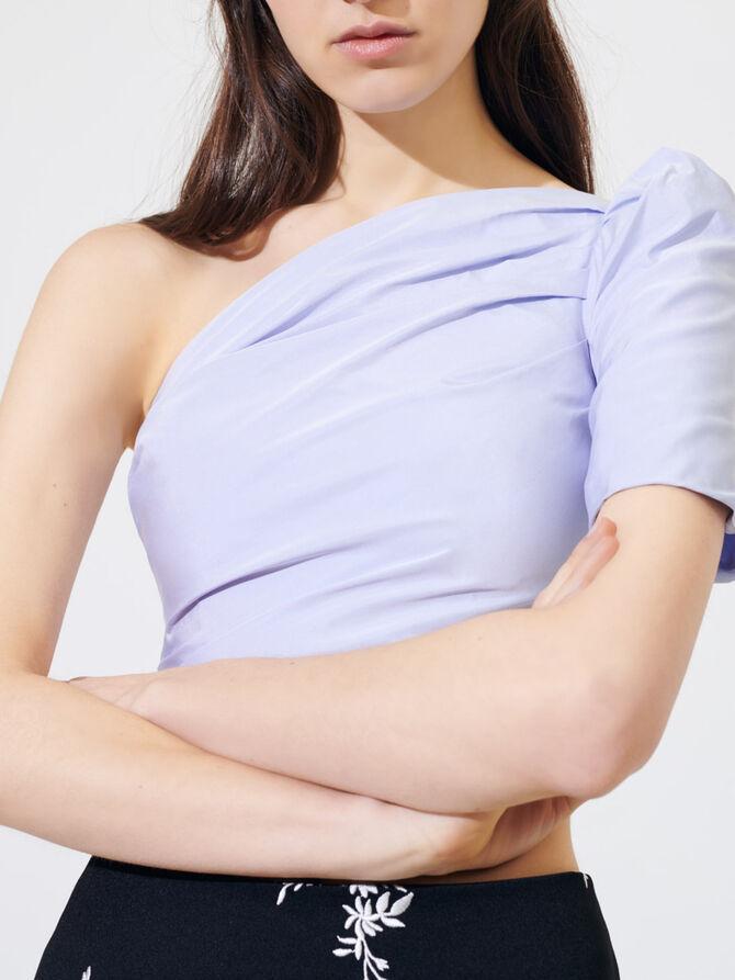 Asymmetric taffeta top - Tops & Shirts - MAJE