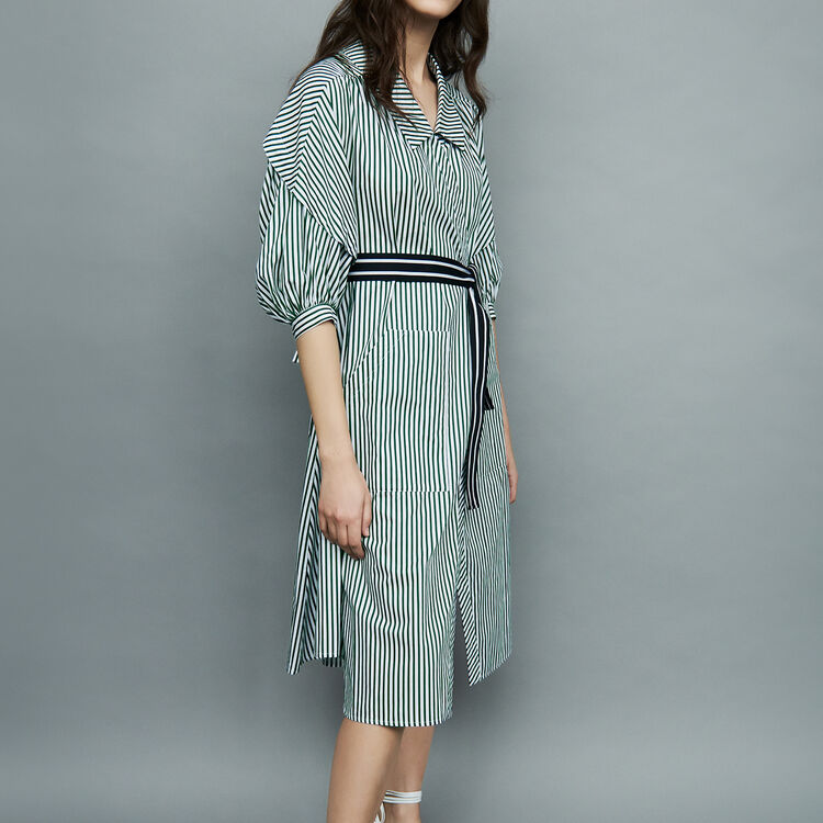 Deconstructed striped shirt dress : staff private sale color Stripe