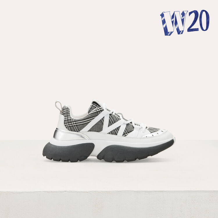 W20 Urban plaid sneakers : See all color Multico