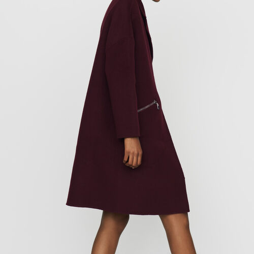 Coat in double-face wool : Coats color Khaki