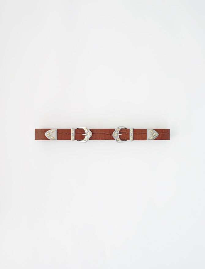 Western double buckle belt -  - MAJE