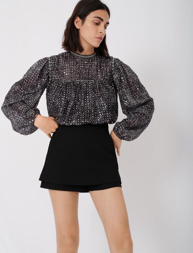 Short-jupe en crêpe - Skirts & Shorts - MAJE