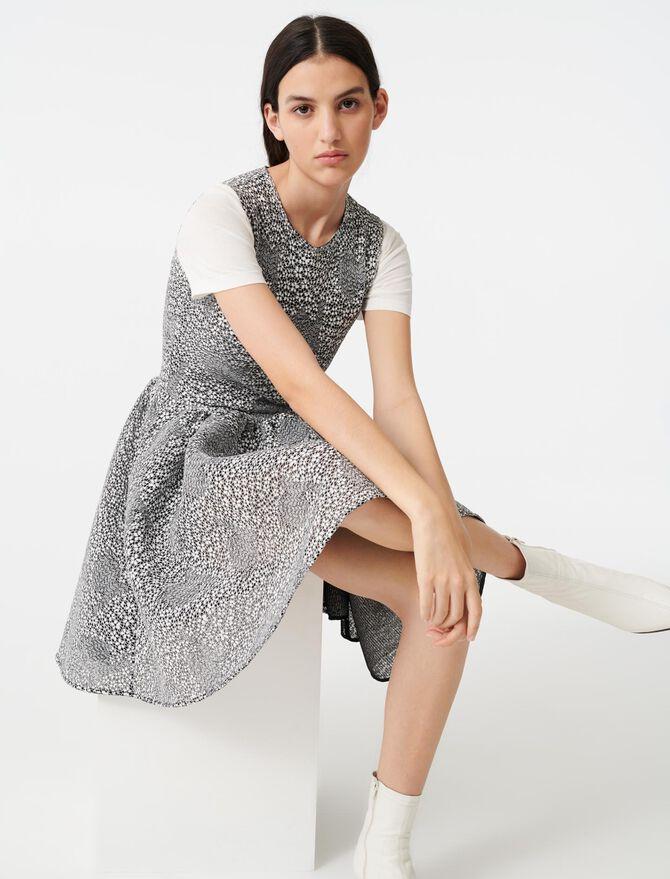 Skater two-tone knit dress - Dresses - MAJE
